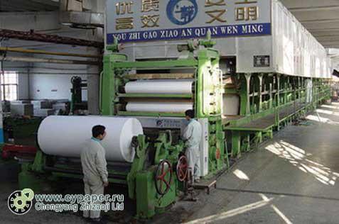 оборудование производства писчей бумаги
