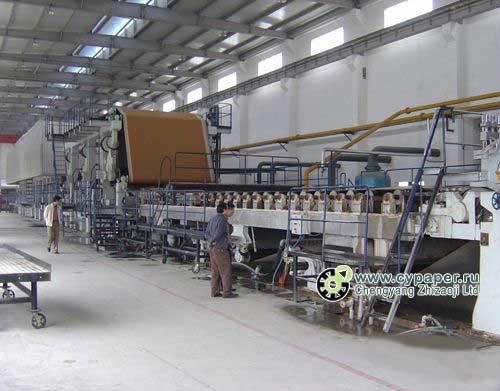 оборудование производства гофрированной бумаги